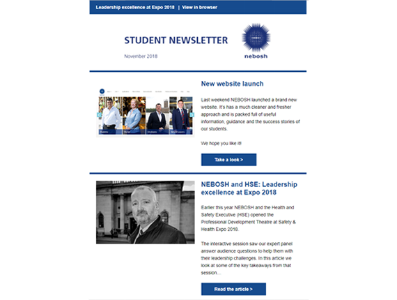 NEBOSH Student Newsletter November 2018