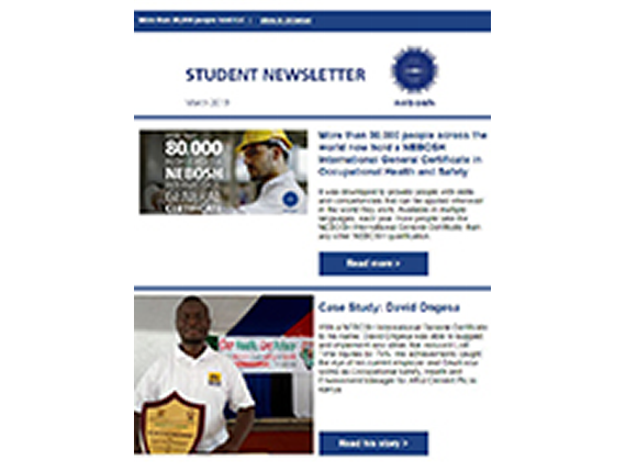 NEBOSH Student Newsletter March 2019