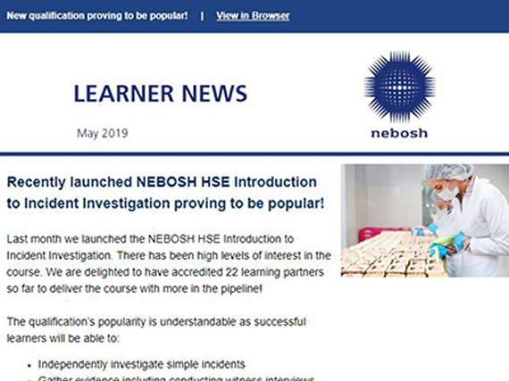 NEBOSH Learner Newsletter May 2019